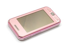 Pink cellphone Royalty Free Stock Image