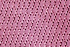 Pink cement floor with rhombus pattern. Stock Photography