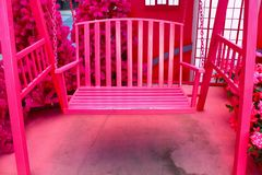 The pink chair background Royalty Free Stock Photos