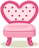 Pink chair. Illustration of isolated cute pink chair on white stock illustration