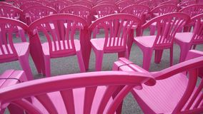 Pink chair Stock Photography