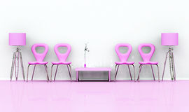 Pink chairs Stock Images