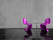 Pink Chairs Stock Photos