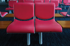 Pink chairs in ordinary. Empty waiting room Stock Image