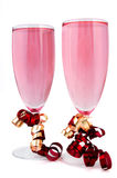 Pink champagne Stock Photos
