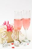 Pink Champagne Royalty Free Stock Photos