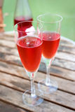 Pink champagne Stock Photography