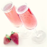 Pink champagne Royalty Free Stock Photo