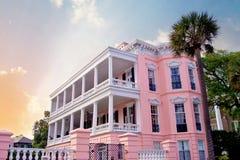 Pink Charleston Mansion Stock Images