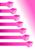 Pink chart infographic with boxes Stock Photos