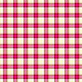 Pink check diamond tartan scot plaid fabric material seamless pattern texture background Royalty Free Stock Images