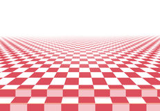Pink checkerboard floor background Stock Image