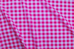 Pink checkered tablecloth Royalty Free Stock Photography
