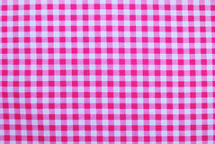 Pink checkered tablecloth Stock Photography