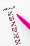 Pink checklist Royalty Free Stock Image