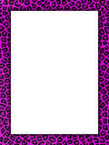 Pink cheetah print border Stock Photography