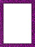 Pink cheetah print border Stock Photography