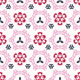 Pink Cherry Bloom Asian Style Ornamental Seamless. Asian Style Ornamental Seamless Vector Pattern, Hand Drawn Stylized FIllustration for Trendy Fashion Prints Vector Illustration