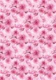 Pink cherry sakura flower floral digital art pattern texture background.  stock illustration