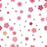 Pink cherry sakura japanese spring flowers seamless pattern. Tree bloom blossom. Feminine girlish style mood. Vector design illus. Tration vector illustration