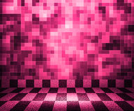 Pink Chessboard Mosaic Room Background Stock Images