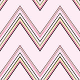 Pink Chevron Pattern. A seamless pattern of a striped chevron pattern on a pink background Stock Illustration