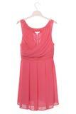 Pink chiffon dress is on white Royalty Free Stock Image