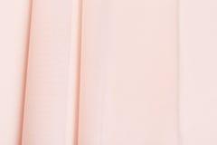 Pink chiffon folds Stock Photos