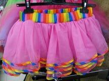 Pink chiffon tutu. Close up Stock Photo