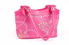 Pink child's bag Stock Photography