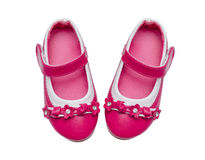 Pink child shoes Stock Image