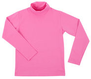 Pink child turtleneck. Isolated on a white Stock Photography