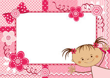 Pink children frame. Stock Photo