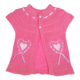Pink children knitted jacket Clipping path Stock Photography