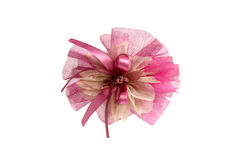 Pink children's bow Stock Photo