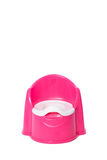 A pink children`s potty. In isolated White Background stock photography