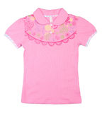 Pink childrens t-shirt on the background Royalty Free Stock Photos