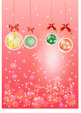 Pink chistmas background Royalty Free Stock Image