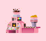 Pink Chocolate Factory illustration. Stock Images