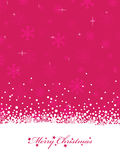 Pink christmas Stock Image