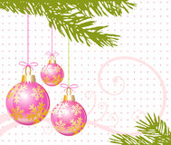 Pink christmas Stock Photos