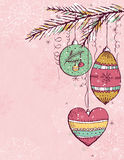 Pink christmas background,  Royalty Free Stock Photos