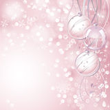 Pink Christmas background Royalty Free Stock Photo