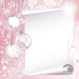 Pink Christmas background stock illustration