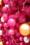 Pink christmas background Stock Image
