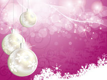 Pink Christmas background. For design Royalty Free Stock Photography