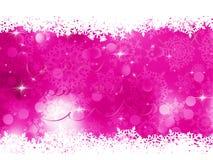 Pink Christmas background. EPS 8 Stock Photo