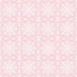 Pink christmas background with seamless pattern. Ideal for print. Ing onto fabric and paper or scrap booking. Vector illustration Stock Photography