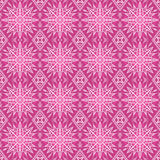 Pink christmas background with seamless pattern. Ideal for print. Ing onto fabric and paper or scrap booking. Vector illustration Royalty Free Stock Photos