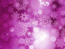 Pink Christmas background with snowflakes. EPS 10 Stock Photos